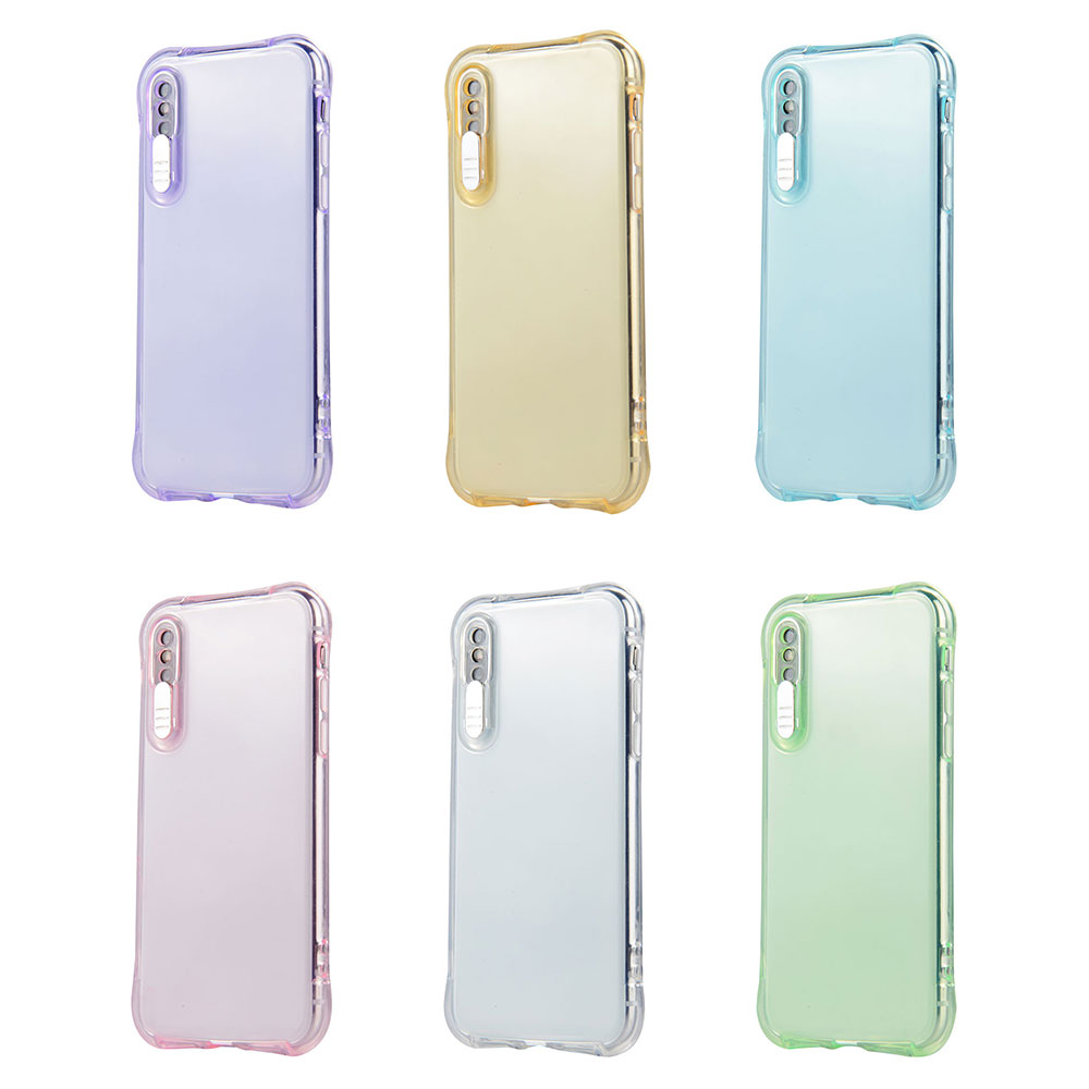 Business TPU Phone Case For iPhone X XS XR Xs Max Plain Transparent Cover Anti-knock Dirt-resistant  Glossy