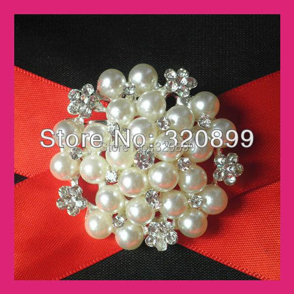 100 unids/lote 45mm Flor de La Perla Broches de diamantes de ...