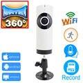Câmera ip wi-fi 720 p ipcam panorâmica panorama 360 cctv segurança mini sem fio camaras de seguridad registro de apoio cartão micro sd