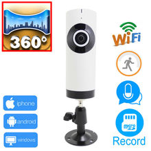 ip camera wifi 720p panoramic 360 panorama cctv security mini wireless ipcam camaras de seguridad Support micro sd card record