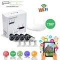 IPCC 720 p Sistema de Seguridad de vídeo de $ Number Canales NVR wifi kit IP Cámaras con protección IP66 Resistente A La Intemperie de Vivienda y de visión exterior