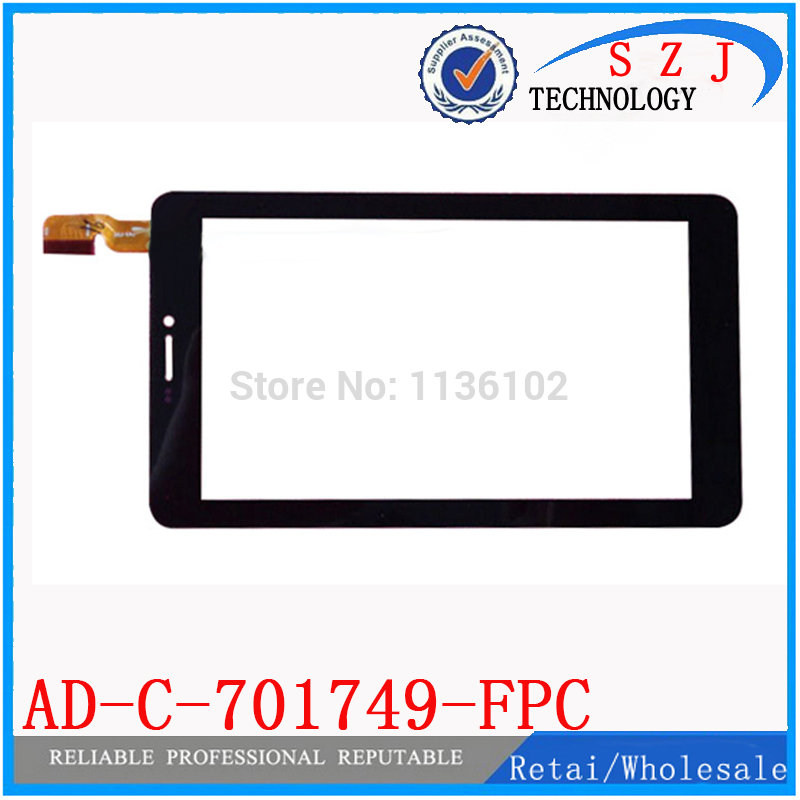 Original New 7'' inch touch screen digitizer Tablet PC AD-C-701749-FPC Touch panel Sensor Glass Replacement Free Shipping 10Pcs new 7 inch touch screen glass used on car gps mp4 tablet pc