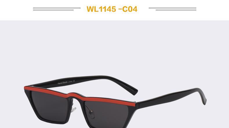 HTB1Z9iHawjN8KJjSZFkq6yboXXaT - Winla Fashion Design Women Sun Glasses Flat Top Sunglasses Square Frame Classic Shades Vintage Eyewear Oculos de sol WL1145