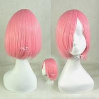 New Arrival Kusajishi Yachiru Animation Cosplay Haruno Sakura Short Straight Cosplay Wigs Free Shipping