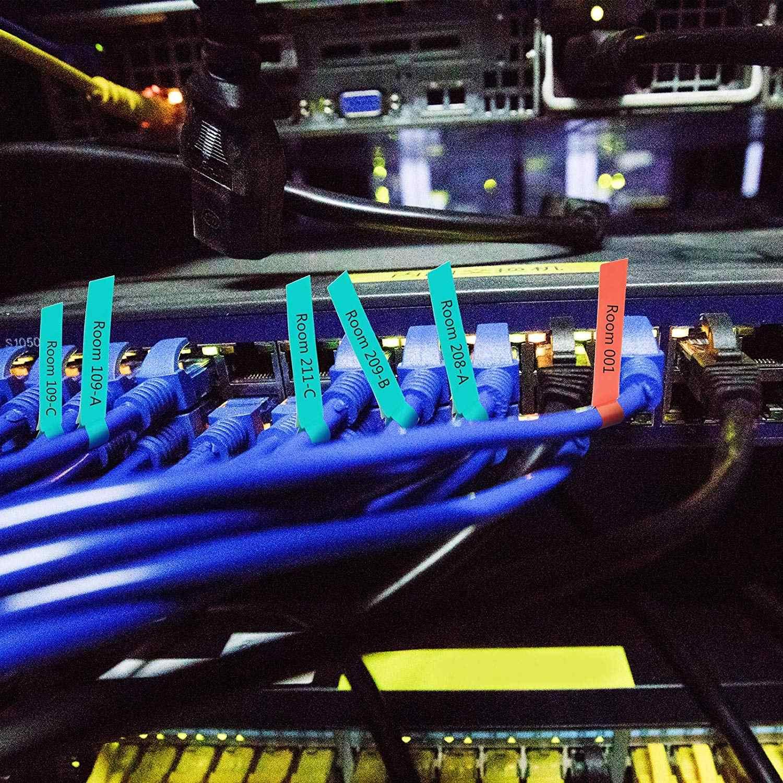 Étiquette de câble auto-adhésive METABLE 750 pièces étiquette de câble étanche étiquette de câble résistant à la déchirure étiquette de câble autocollants Identification de cordon