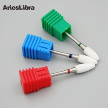 2017 Hot Bullet Ceramic Nail Drill Bit Nail File Cutter for Electric Manicure Machine Nail Art Tool Nail Drill Accessory
