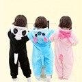 Panda Bebê Meninas Roupas Animal Bebê Newbron Macacão Traje de Lã Roupas de Inverno Para O Bebê Meninos Snowsuit Quente Macacão Onesie