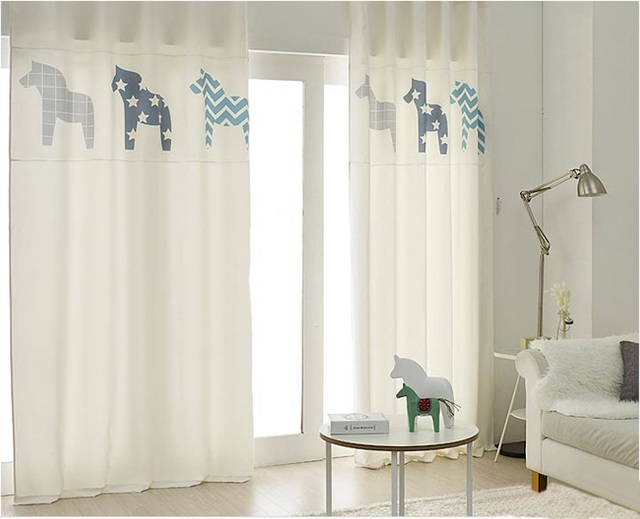 Draw Grommet Drapery Drape Curtain Nursery Kids Children Room Window Dressing Covering 145 X 180cm 220cm