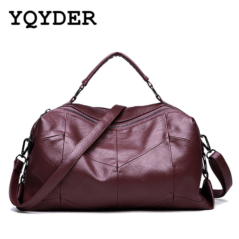Brand Solid Top-Handle Women Bag Sac Femme Designer Handbags PU Leather Ladies Tote Bag Fashion Big Boston Shoulder Bags Sac