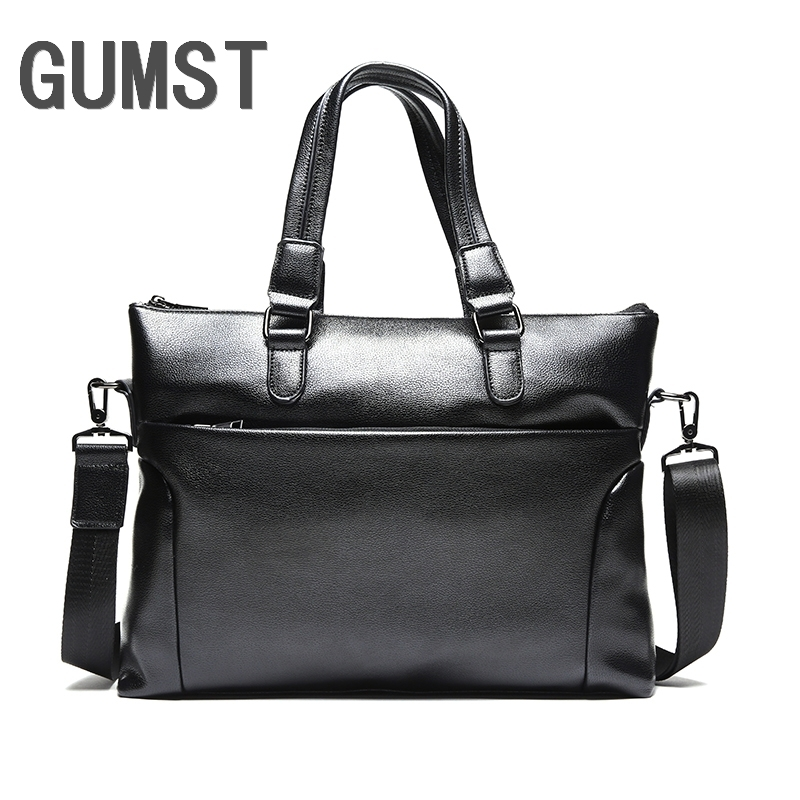 GUMST Brand Men Laptop Bag Briefcase Fashion Men's Business Bags Casual Leather Messenger Bag For Men