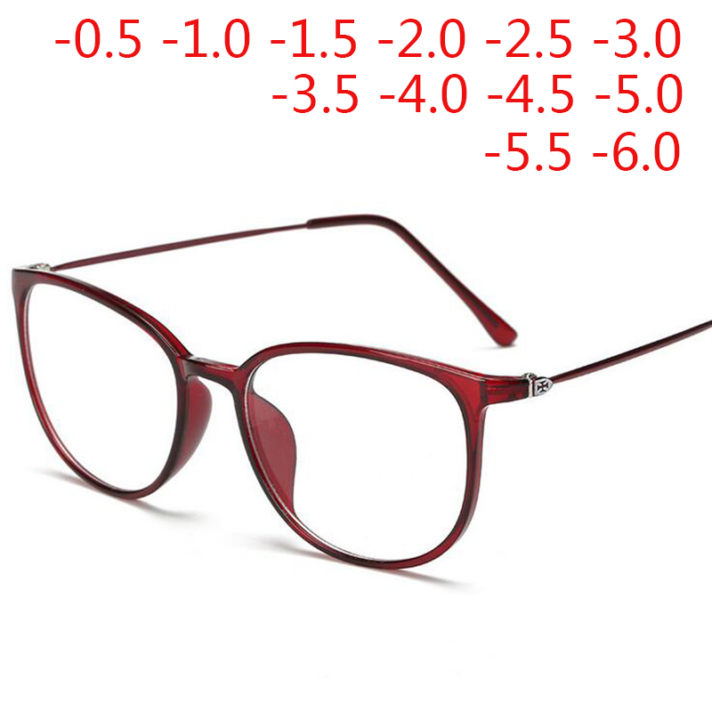 Myopia-Glasses TR90 Short-Sighted Women Ultralight Oval Student Diopter-0.5-1.0-1.5-2.0