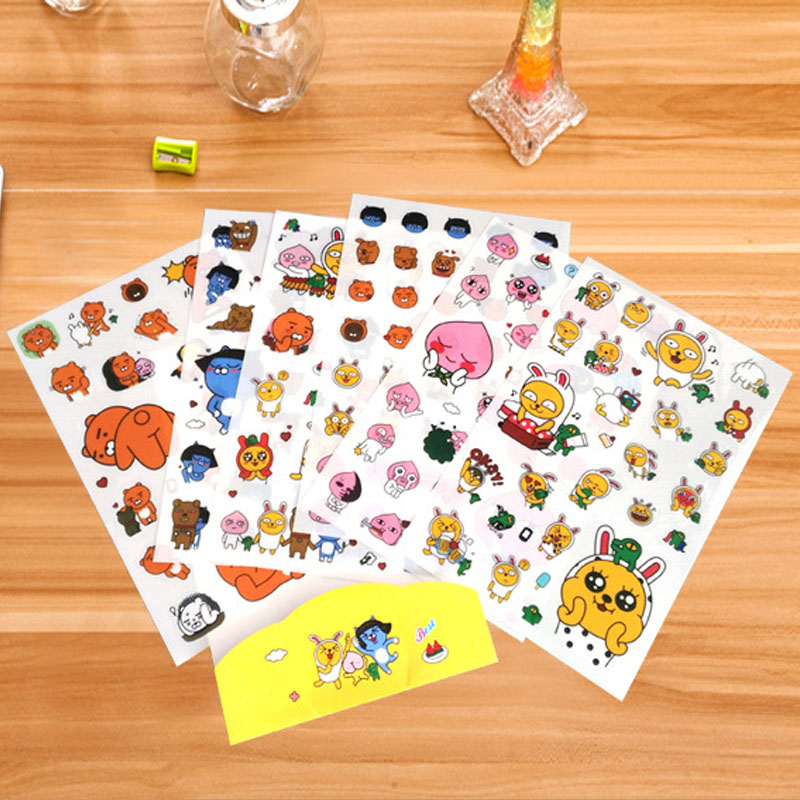 6 Sheet//lot Lovely Miss Cat Adhesive DIY scrabooking Diary photo album sticker H
