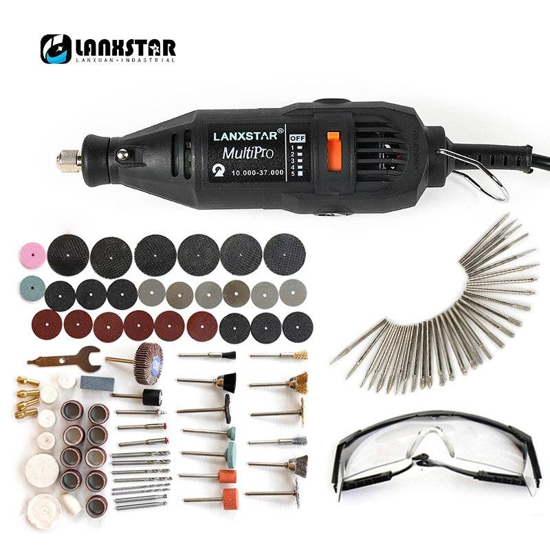 Lanxstar Dremel Power Tools Elektrische Mini Bohrer Polieren Maschine Variabler Geschwindigkeit Rotierenden Werkzeug mit 106 Power Werkzeug Zubehör
