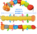 Colorful Musical Inchworm Soft Lovely Developmental Educational Plush Baby Toy rattle toy BB device measurment ring paper