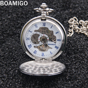 Image 2 - Мужские наручные часы BOAMIGO, серебристые наручные часы с подвеской в стиле «милитари»