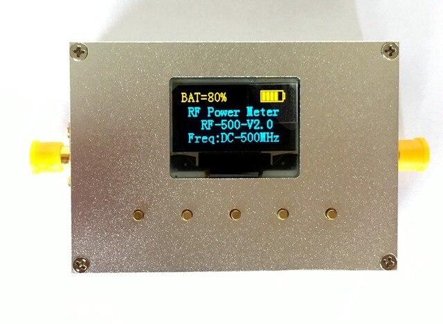 RF medidor de energia, medidor de energia V2.0, valor de atenuação de RF poder pode ser definido, estação de rádio digital CNC shell