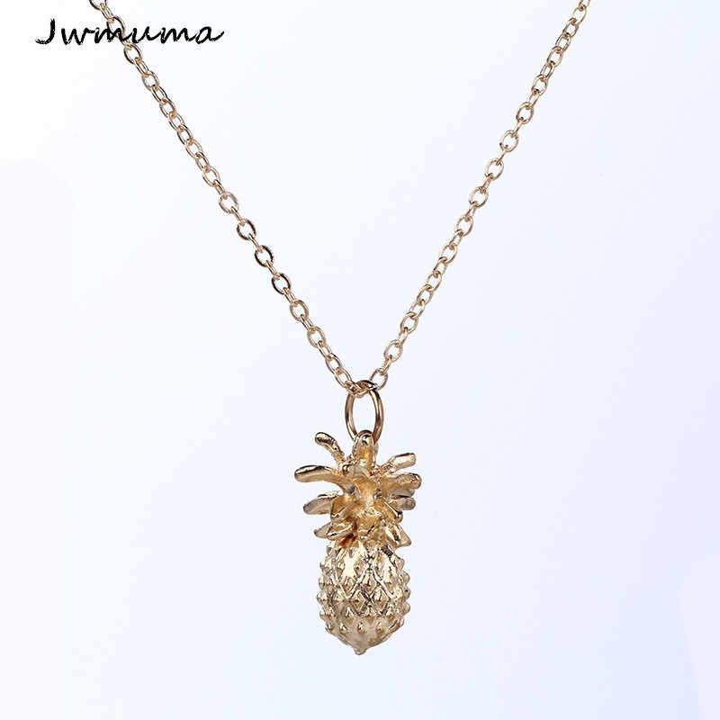 1 個繊細なパイナップルペンダント NecklaceCharm ゴールドシルバー色美容ローズジュエリー女性女の子のための