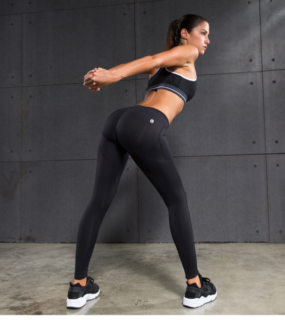 VANSYDICAL Casual Leggings Women Pants Exercise Fitness Workout Leggings Trousers Slim Compression Tights Pants Sexy Hip Push Up