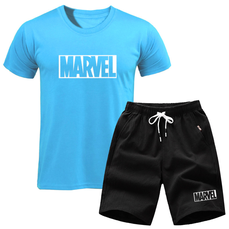 Men's Clothing Brand Two Piece Set Men Short Sleeve T Shirt Cropped Top+shorts Mens Tracksuits New Causal Sportswear Tops Short Trousers To Have A Unique National Style