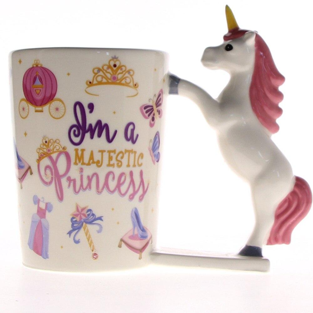 Us 1169 10 Off1piece I Am The Majestic Princess Mug Ceramic Coffee Mug Tea Mug Cup Magical Pink Unicorn Mug Princess Unusual Gift Ideas In Mugs