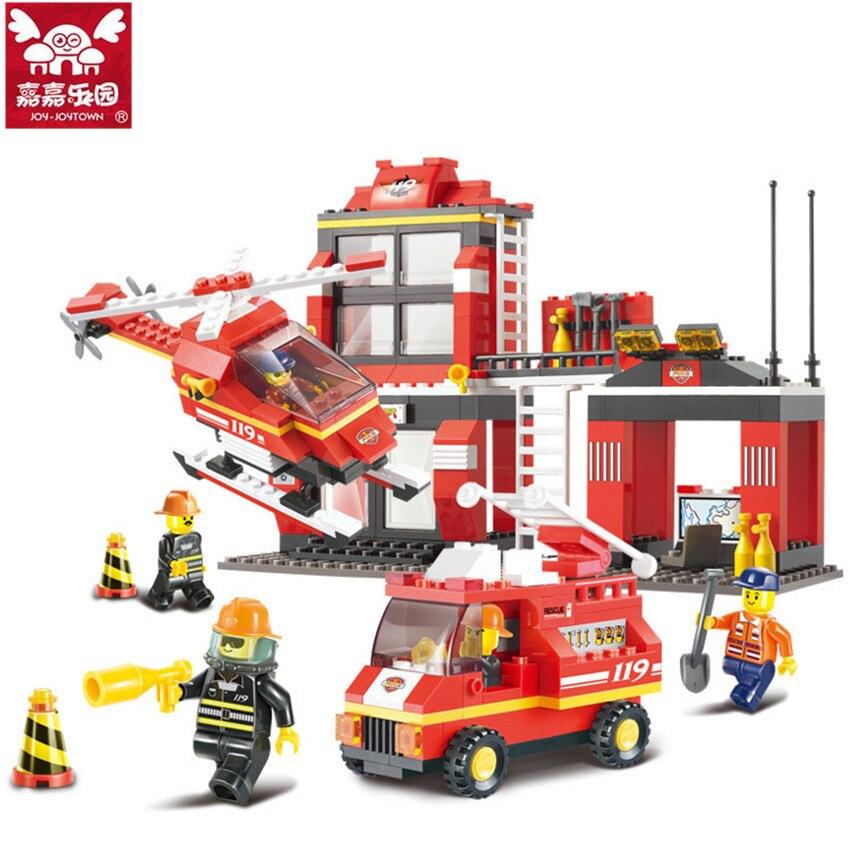 Pcs Fire Station Fire Engine Model Building