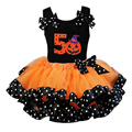 halloween girl ribbon tutu skirt pettiskirt princess dance mini skirt tutu 8T toddler girl orange ball gown pettiskirt