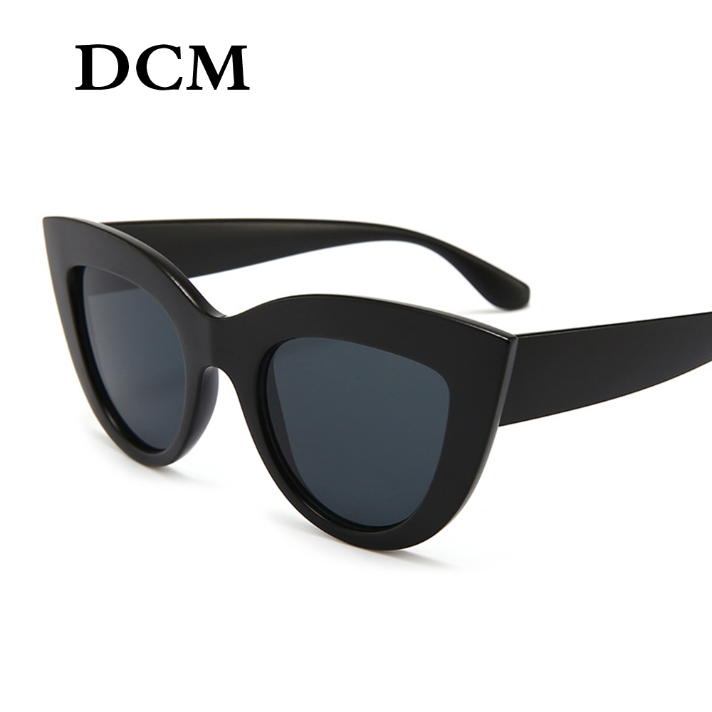 Mirror Frame Glasses Dcm Vintage Sunglasses Women Cat Eye Sunglass Retro Sun Glasses Female Pink Mirror Eyewear