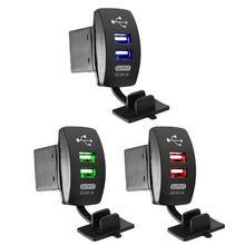 цена на Car Charger Cigarette Lighter Socket Splitter Power Adapter Outlet 12V Dual USB