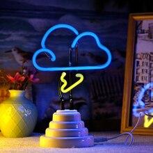 Neon Light LED Table Night Light Table Lamp Flamingo Pineapple Cloud Rainbow Christmas Home Party Decoration 3D Desk Lamp Decor