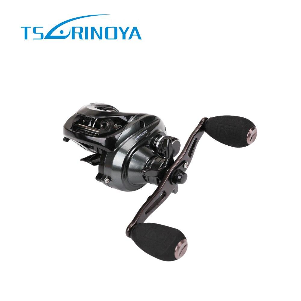 Tsurinoya moulinet de pêche Baitcasting en métal complet 10 KG 10 + 1BB freins en Fiber de carbone 260g moulinet de pêche à la tête de serpent