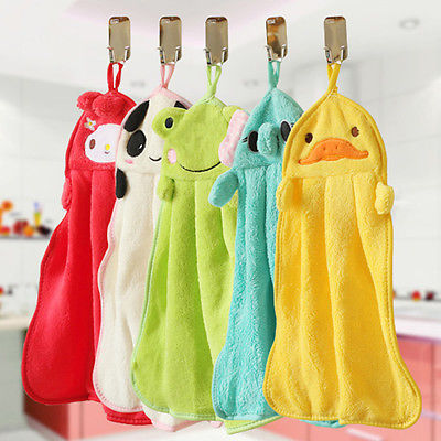 TODDLER AND BABY HAND TOWEL FACE CLOTH CHILDREN KIDS HANGING BATHROOM TOILET