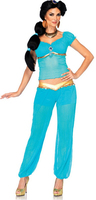 free shipping Ladies Princess Jasmine Style Costume Fancy Dress Sexy Fairytale Belly Dancer