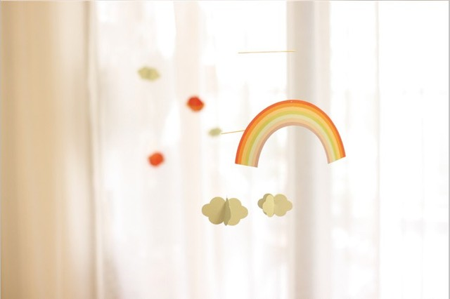 RainbowsClouds Paper Crafts Baby Showers Kids Birthday Party Event Supplies Hanging Room Decoration Festival Home