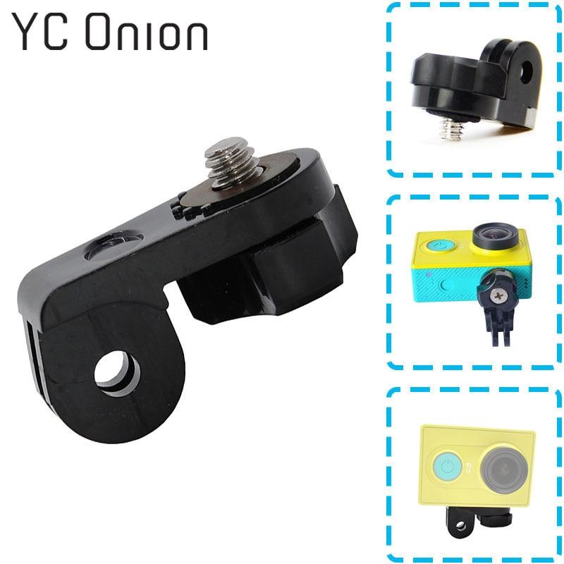 1/4 Schraube Stativ Mount Adapter Converter Zubehör Für Xiaomi Yi Sony Action Cam Für Gopro Kamera As20 As30v As100v As200v Hdr