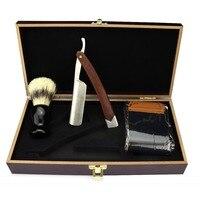 Sharonds Men Vintage Straight Edge Stainless Steel Hair Shaper Barber Razor Folding Manual Shaving Knife baber