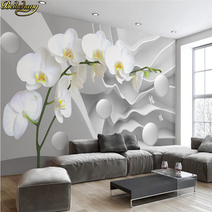 beibehang Papel De Parede 3D White geometric Modern Minimalist Photo Wallpaper for Walls Mural Abstract Art Wall Paper Bedroom