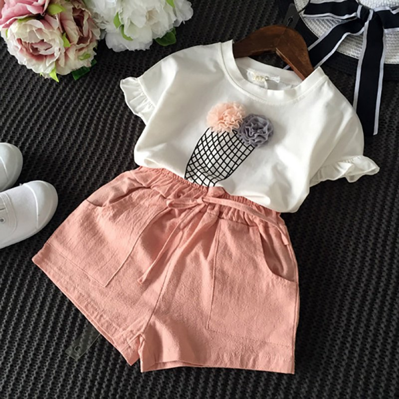 2f7109bc17243 LONSANT Kids Clothes Set Newborn Baby Print Long Sleeves Romper+ ...