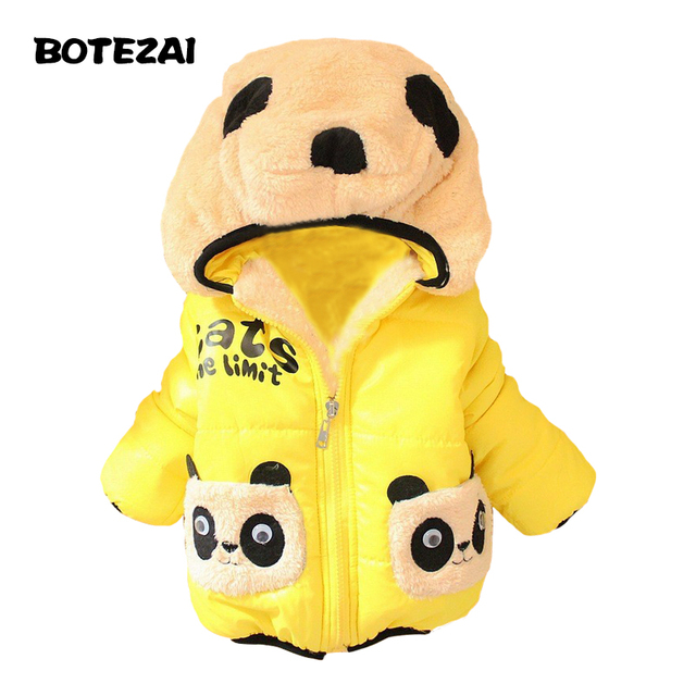 retail 1pc Children Clothing panda Cartoon Outwear Child Boy Winter Wear Thickening Outerwear Coat Kids cotton-padded jacket