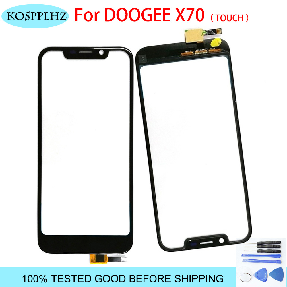 KOSPPLHZ 5.5 Inch Doogee X70 Touch Screen Glass 100% Guarantee New Glass Panel Touch Screen X 70+ Tools