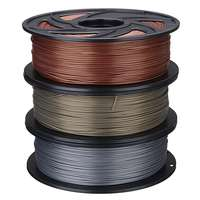 Durable 3D Printer Filament Silk Texture Feeling 1kg Silky Rich Luster 1.75 mm PLA Aluminum Bronze Copper 3d Printing Materials
