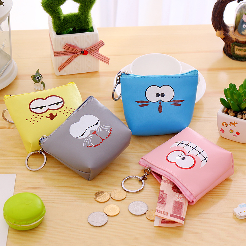 eTya 2018 New Fashion Coin Purse Cute Cartoon Animals Change Money Pouch Women Girls Small Wallet PU Leather Key Bag Kid Gift bulk 12 pcs lot coin purse for girls child kawaii cartoon women coin change purse small key holder money bag pouch purse wallet