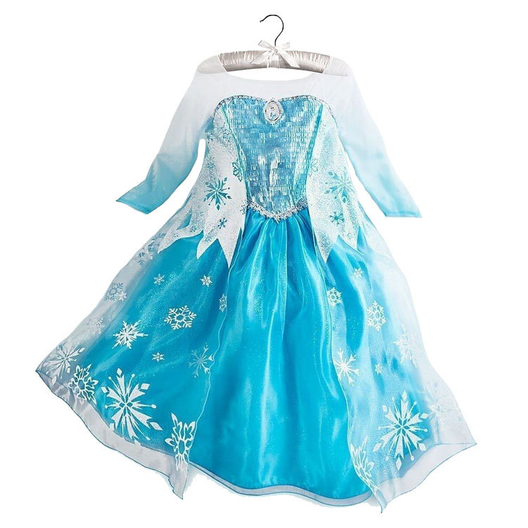 Fever Elsa Dresses Girls Cosplay Costume Snow Queen Princess Girl Dress Kids Party Clothing Fantasia Infantis Vestido Menina 2017 new girls dresses for party and wedding baby girl princess dress costume vestido children clothing black white 2t 3t 4t 5t