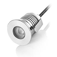 מיני LED קבור אור אור סיפון LED DC 12 V 24 V עמיד למים מחתרת מנורות 1 W LED קומת מנורת תאורת קרקע עבור נתיב חיצוני
