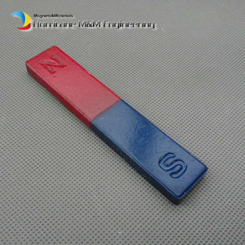 2pcs Magnetic Teaching Tool Magnet Bar type magnet 100x20x8 mm blue red / Toy magnet / office magnet free shipping 2 meters self adhesive flexible magnetic strip magnet tape width20x1 5mm ad teaching rubber magnet