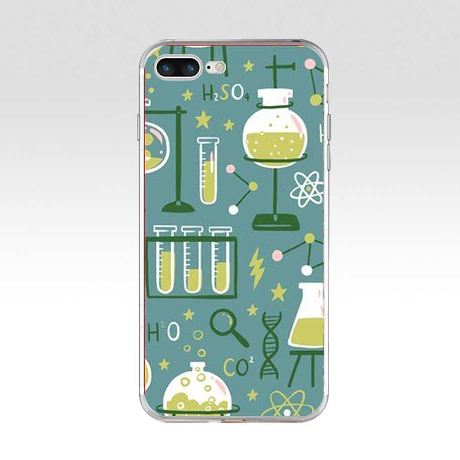 245H Biology and Chemistry Soft TPU Silicone Cover Case For Apple