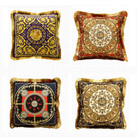 Avigers Luxury Cushion Cover with Tassels Velvet Throw Pillow Case Pillowcase Home Decorative European Design Srusader Sofa