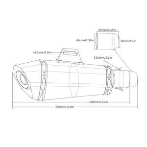 Image 5 - 36 51mm Universal CNC Motorcycle  Moto Bike Exhaust Pipe With Muffler For Kawasaki versys 650 cc ninja 1000 ninja1000/ tourer
