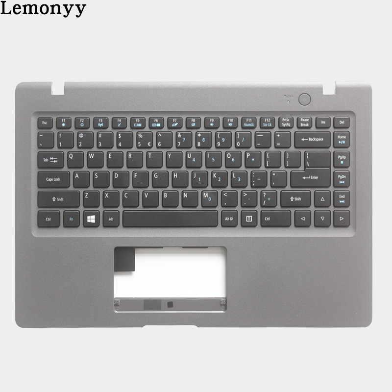 NEW US keyboard for Acer Aspire One Cloudbook 1-431 1-431M AO1 431 Laptop Palmrest upper case with US Keyboard new us keyboard for acer aspire vn7 793g vx5 591g vx5 591g 52wn us laptop keyboard with backlit