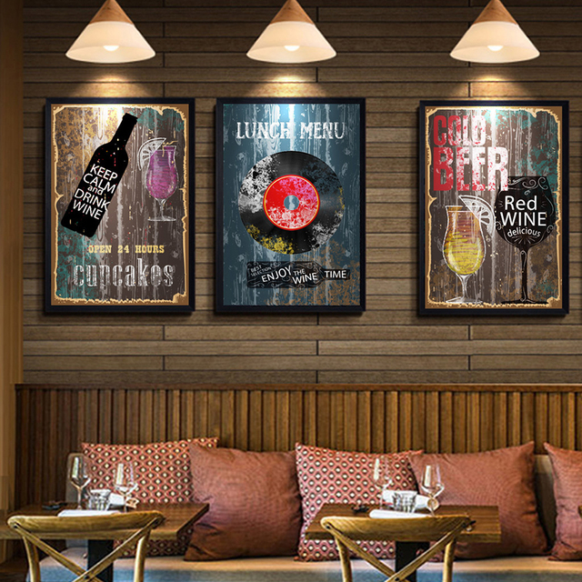 Topp Classic Picture Guitar Vintage Music Bar Canvas Painting ZL-12