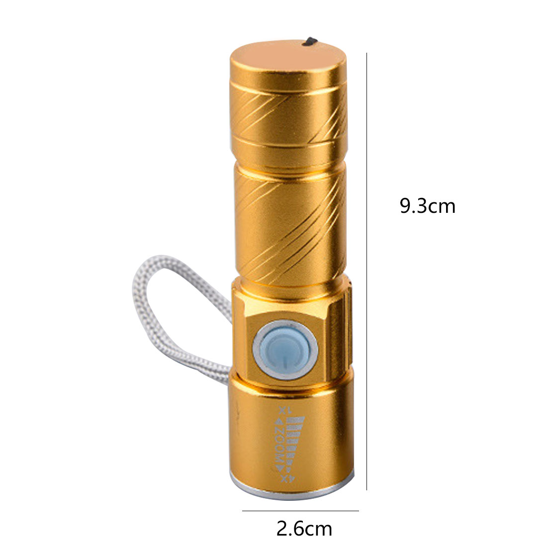 LED Flashlight Rechargeable Torch usb Flash Light Bike Pocket LED Zoomable Lamp For Hunting Black